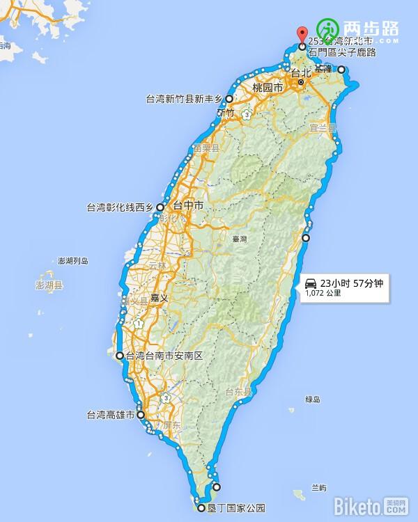 经典路线   环台湾骑行攻略(海线篇)路线图